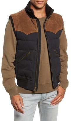 Frye Austin Suede Yoke Quilted Vest