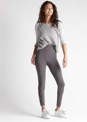 Yummie Cotton Stretch Shaping Legging with Mesh Inset Stripes