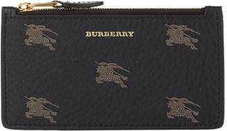 Burberry Leather Equestrian Knight Card Holder