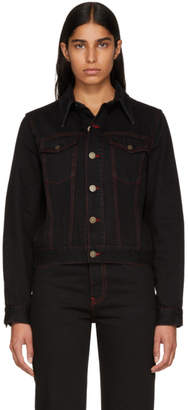 Calvin Klein Black Denim Dennis Hopper Jacket