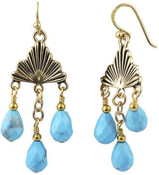 Artsmith BY BARSE Art Smith by BARSE Blue Howlite Brass Chandelier Earrings