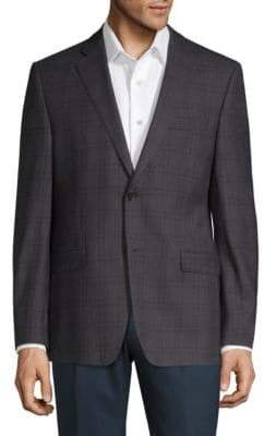 Lauren Ralph Lauren Checkered Wool Slim-Fit Suit Jacket