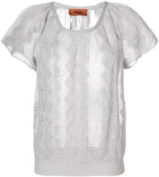Missoni embroidered short-sleeve top