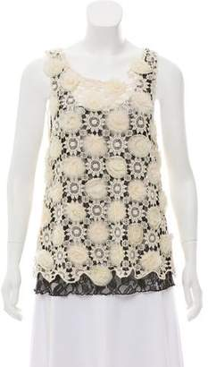 Alice + Olivia Sleeveless Crochet Top