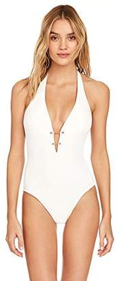Robin Piccone Women's Luca Deep Plunge One Piece Swimsuit
