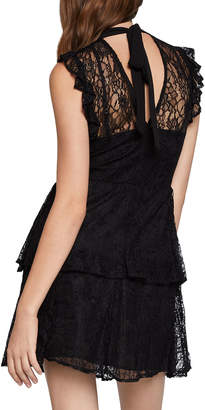 BCBGeneration Bow Tie Lace Tiered A-Line Dress