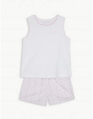The Little White Company Embroidered floral cotton pyjamas 1-6 years
