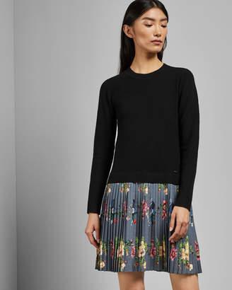 Ted Baker IZITAA Oracle pleat skirt knit dress