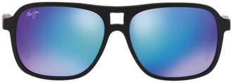 Maui Jim 771 Little Maks 57 Black Pilot Sunglasses