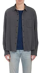 Simon Miller Men's M100 Arcata Cotton Shirt-Gray Size S