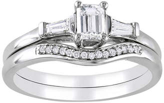 MODERN BRIDE 3/4 CT. T.W. Emerald-Cut Diamond Bridal Ring Set