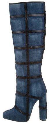 Tom Ford 2015 Patchwork Denim Boots