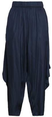 Halston Voile Wide-Leg Pants