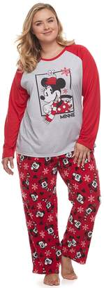 Disneyjammies For Your Families Disney's Minnie Mouse Plus Size Top & Bottoms Pajama Set by Jammies For Your Families