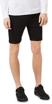Topman Stretch Skinny Denim Shorts