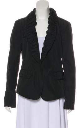 Burberry Pleated-Trimmed Lightweight Jacket