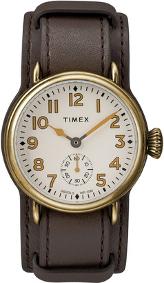 Timex Waterbury Welton Leather Cuff Watch, 38mm