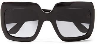 d9c51988211e6 Gucci Oversized Square-frame Acetate Sunglasses - Black