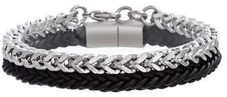 Ben Sherman Faux Leather Franco Chain Bracelet