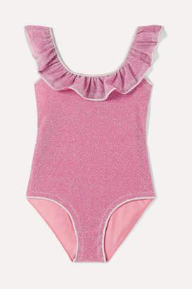 Oséree Kids - Cutout Ruffled Stretch-lurex Swimsuit - Pink