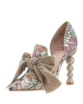 Tory Burch Clara Floral d'Orsay Bow Pump $598 thestylecure.com