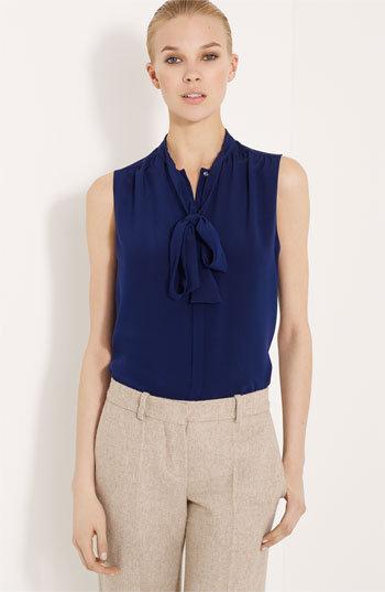 Chloé Tie Neck Silk Blouse
