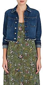 L'Agence Women's Zuma Studded Denim Crop Jacket - Authentiqu