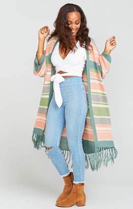 Show Me Your Mumu Maude Fringe Cardigan ~ Nevada Stripe Knit