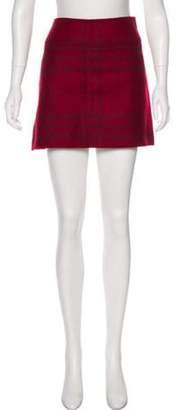Burberry Wool Mini Skirt Red Wool Mini Skirt