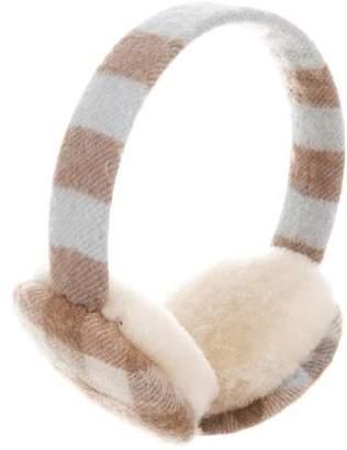 Burberry Cashmere Nova Check Ear Muffs