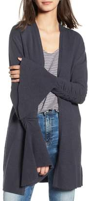 Hinge Ruched Bell Sleeve Cardigan