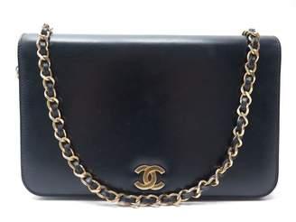 Chanel Vintage Navy Leather Clutch Bag