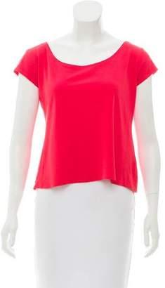Eileen Fisher Silk Short Sleeve Top