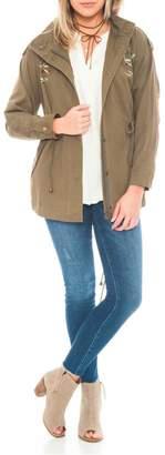 En Creme Embriodery Zip Jacket