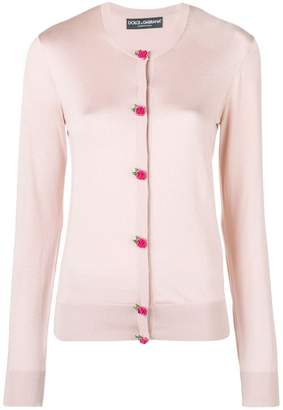 Dolce & Gabbana rose button cardigan