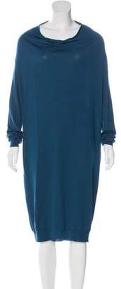 Lanvin Long Sleeve Sweater Dress