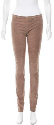 Giorgio Brato Leather Straight-Leg Leggings w/ Tags