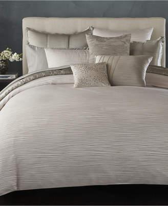 Donna Karan Home Reflection Silver Full/Queen Duvet Cover Bedding