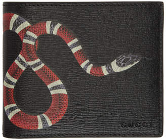 Gucci Black Snake GG Wallet