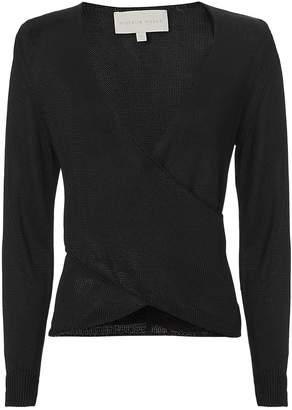 Michelle Mason Cross Front Black Top