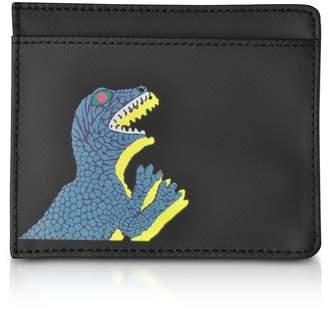 1616f0702928fb Paul Smith Black Nylon And Leather Dino Card Holder