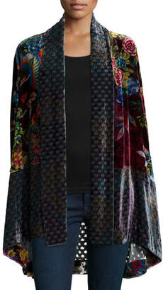 Johnny Was Plus Size Dream Multi-Print Velvet Kimono Jacket