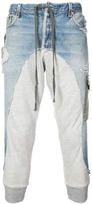 Greg Lauren denim fleece lounge pants