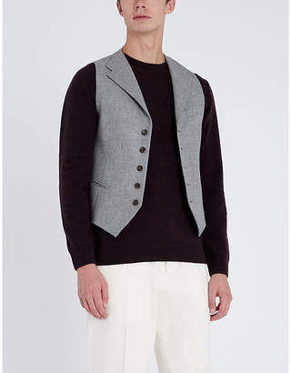 Eleventy Notch-lapel wool and cashmere-blend waistcoat