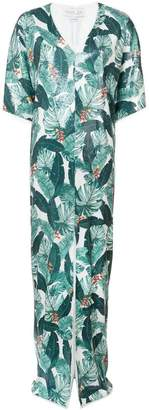Rachel Zoe leaf print dress