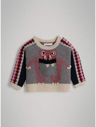 Burberry Childrens Monster Cashmere Jacquard Sweater