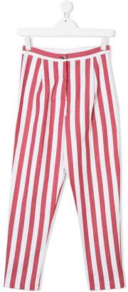 Caffe Caffe' D'orzo Miriam striped trousers