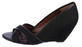 Elizabeth and James Woven Wedge Pumps