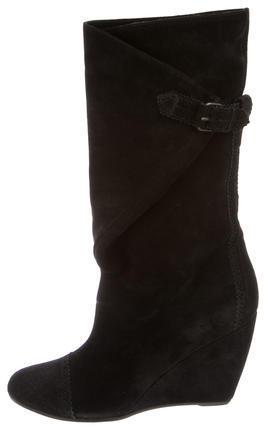 Balenciaga Balenciaga Suede Round-Toe Boots