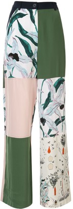 Tory Burch printed block trousers